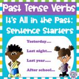 Regular and Irregular Past Tense Verbs: Sentence Starters