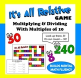 It's All Relative – multiplication and division number relationships game