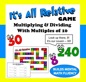 Division multiplication relationship teaching resources teachers its all relative multiplication and division number relationships game ccuart Choice Image