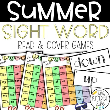 It's Almost Summer Sight Word Read and Cover FREEBIE