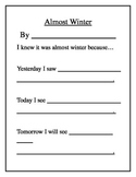 It's Almost Winter - Poem Template (Word Document)