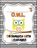 It's An Owl-Standing Classroom Theme 2