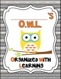 It's An Owl-Standing Classroom Theme 2