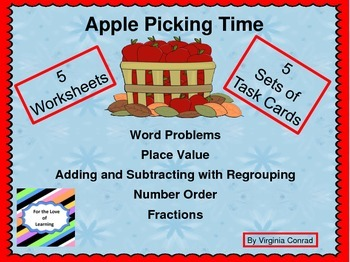 Apple Picking Time--Task Cards and Worksheets