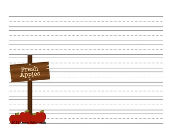 It's Apple Picking Time!  Free Writing Paper for the Primary Classroom