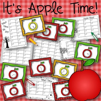 It's Apple Time Fall Harvest Task Cards for Telling Time G