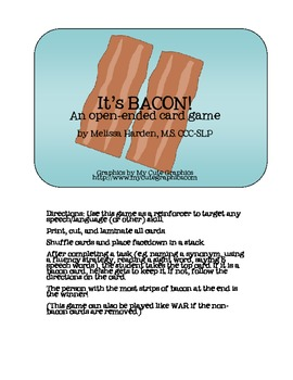 It's BACON! An open-ended reinforcer game