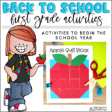 Back to School Activities First Grade   First Week of School