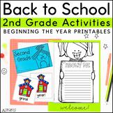 Back to School Activities Second Grade   First Week of School