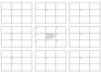 It's Back to School We Go (Literature) Graphic Organizer for Culture Study