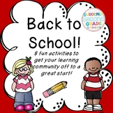 Back to School with 8 fun activities!