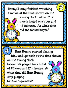 It's Bunny Time: Problem Solving with Elapsed Time (TEKS 4.8C)