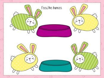 It's Bunny Time play dough work mats