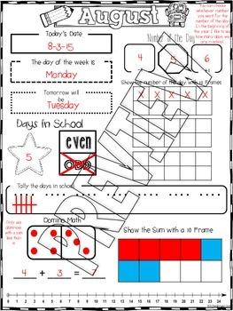 It's Calendar Time! Interactive Daily Calendar Journal (1-2)