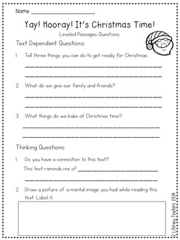 It's Christmas Time: CCSS Aligned Leveled Reading Passages and Activities