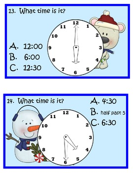 It's Christmas Time!  Fun Travel Games for Telling Time!