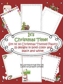 It's Christmas Time! Paper Pack (15 designs)