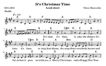 It's Christmas Time: a song for a primary school nativity play
