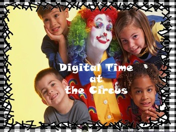 Digital Time at the Circus on the Hour Presentation