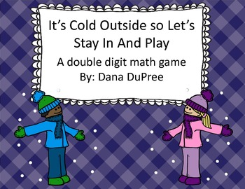 It's Cold Outside--Double Digit Addition Game
