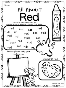 It's 'Color'rific! {Color Word Worksheets}
