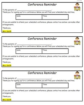 """It's Conference Time"" Editable Conference Forms to meet your needs"