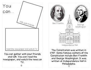 Constitution Day Mini-Book & Response {1st-3rd}