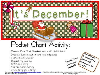 It's December! Pocket Chart Poetry Set