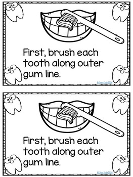 DENTAL HEALTH READING, MATH, AND WRITING ACTIVITIES for Kindergarten and First G