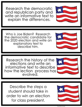 It's Election Time! {Election Themed Writing Prompts for the Common Core}