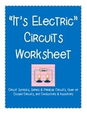 """""""It's Electric"""" Electricity Worksheet"""