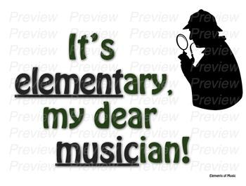 It's Elementary, my Dear Musician- Elements Bulletin Board/Word Wall
