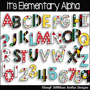 It's Elementary Alpha Clipart Collec