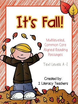It's Fall: CCSS Aligned Leveled Reading Passages and Activities