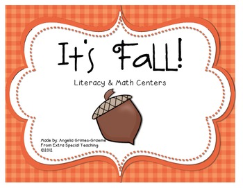 It's Fall! Literacy & Math Centers