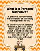 A Personal Narrative Writing Unit