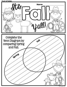 It's Fall Y'all! A cowboy/cowgirl/country-western themed file folder activity