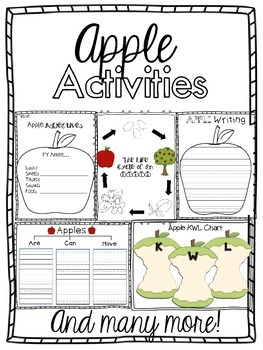 Apples, Pumpkins and Fall Activities, Oh my! Bundled Fall-Themed Activities