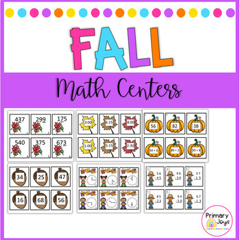 Fall Themed Math Stations