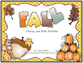 It's Fall Ya'll! (Literacy, Math and More)