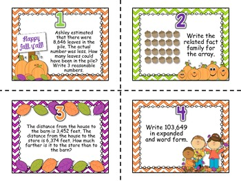 It's Fall, Y'all! {Math Centers Aligned to 4th Grade CCSS!}