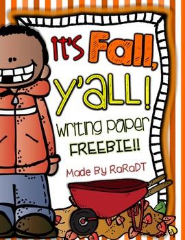 It's Fall, Y'all! {Writing Paper FREEBIE}