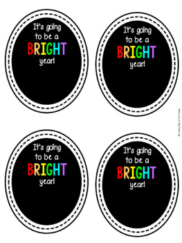 It's Going To Be A BRIGHT Year! {gift tags}