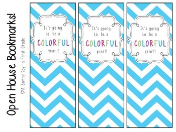 """""""It's Going to be a COLORFUL Year!"""" Bookmarks"""