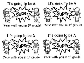 It's Going to be a SUPER Year-Superhero Theme-Back to School Coloring Page
