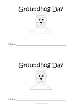 It's Groundhog Day!- Emergent Reader