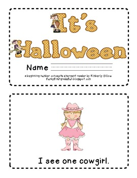 It's Halloween Emergent Reader