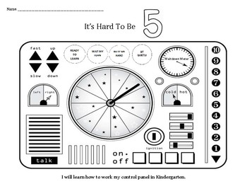 It's Hard To Be Five: Learning How To Work My Control Panel coloring sheets