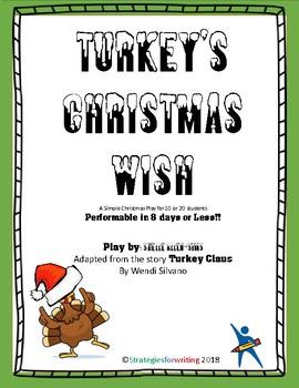 Turkey's Christmas Wish - First Page Christmas Play