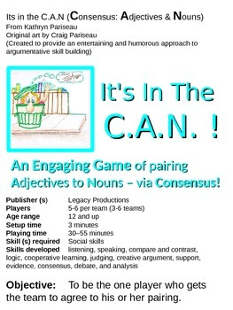 It's In  the C.A.N. - an argumentative skills development game (via consensus!)